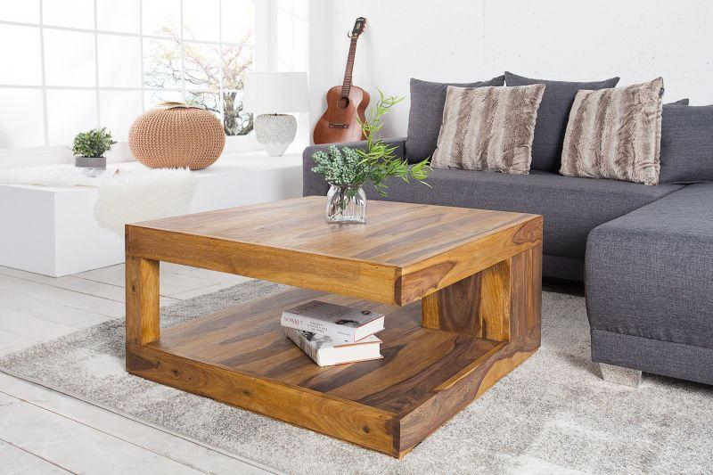 Table basse en bois massif 80 cm