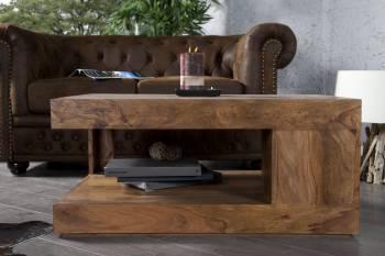 Table basse en bois massif 60 cm